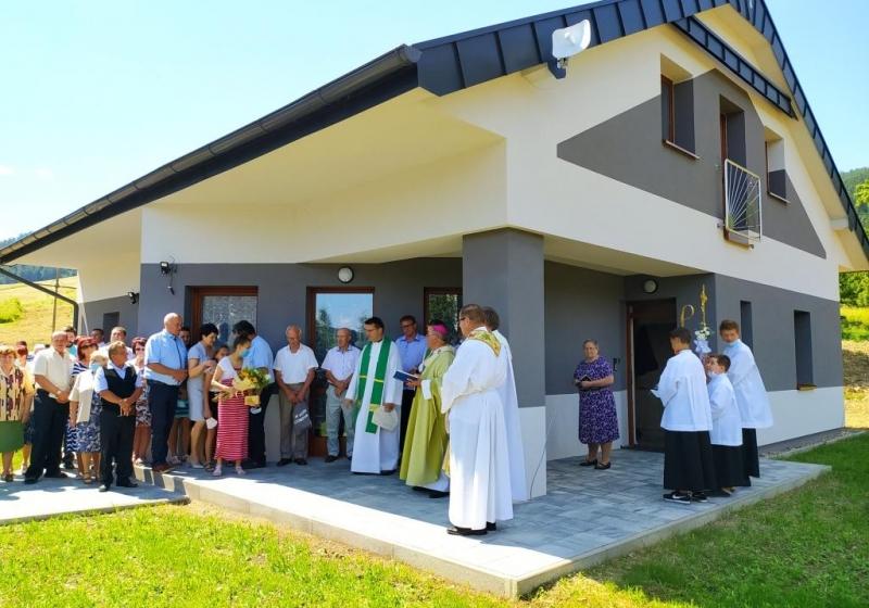 Požehnanie farskej budovy v Brezovičke