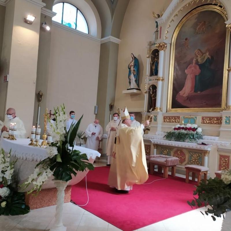 Požehnanie kostola v Ťahanovciach