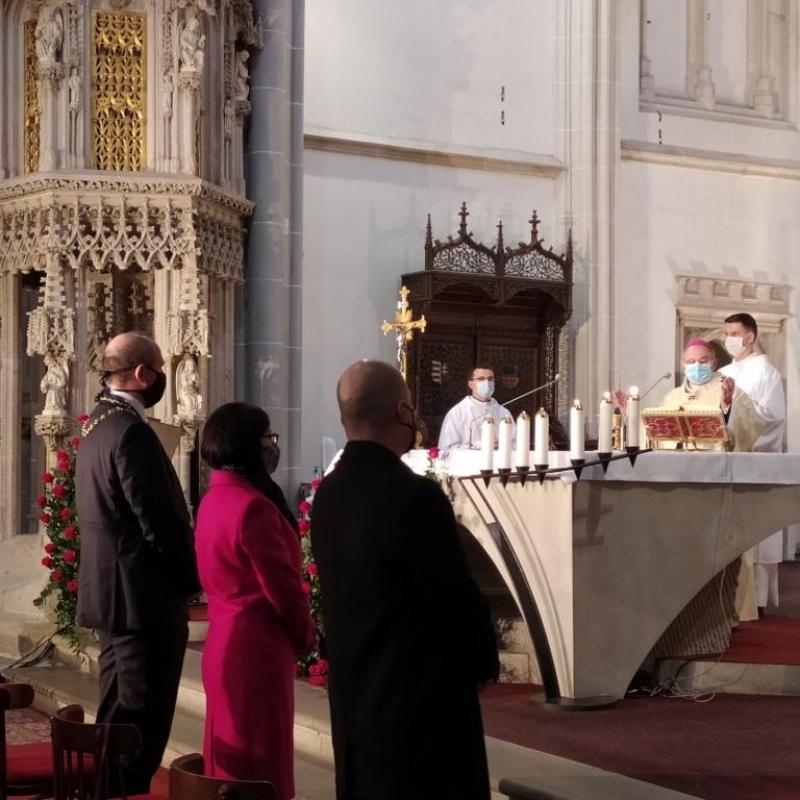 Prvé výročie vyhlásenia  sv. Alžbety za patrónku Košíc