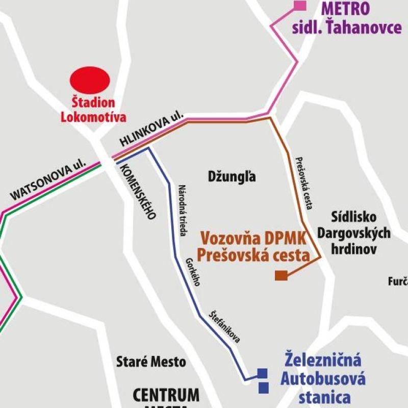 Kyvadlová doprava 14. septembra na štadión Lokomotíva
