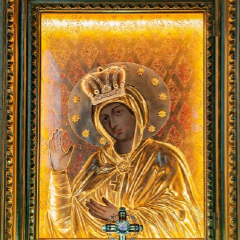 Modlitba pred milostivým obrazom Panny Márie Obišovskej