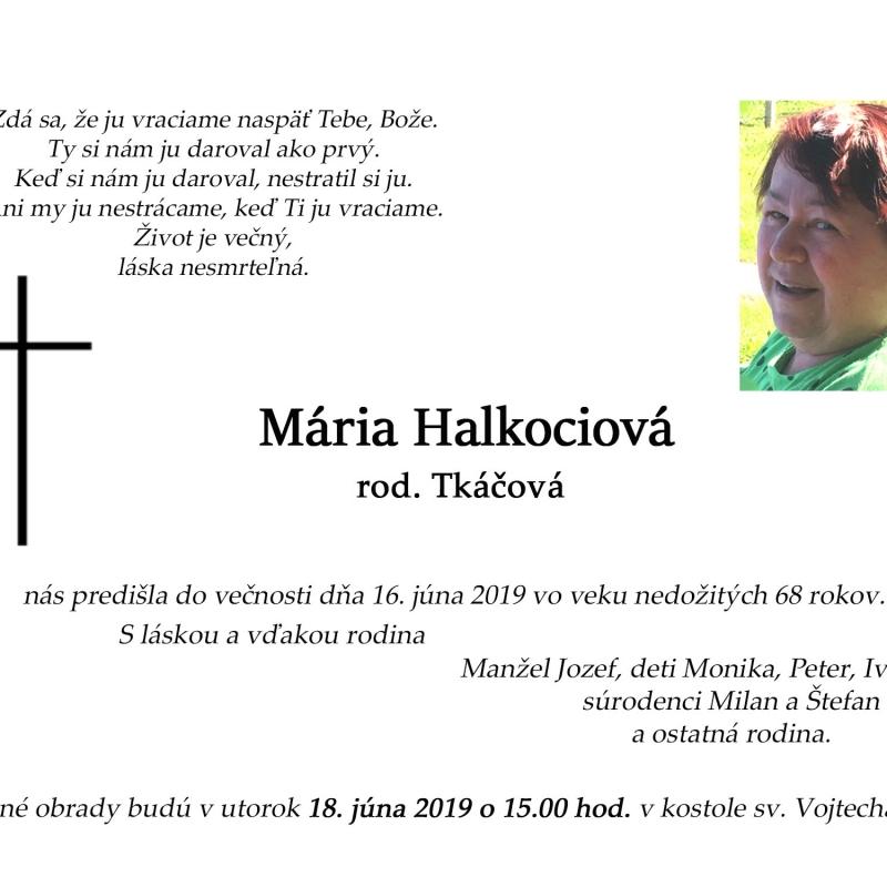 Zomrela mama kňaza Petra Halkociho