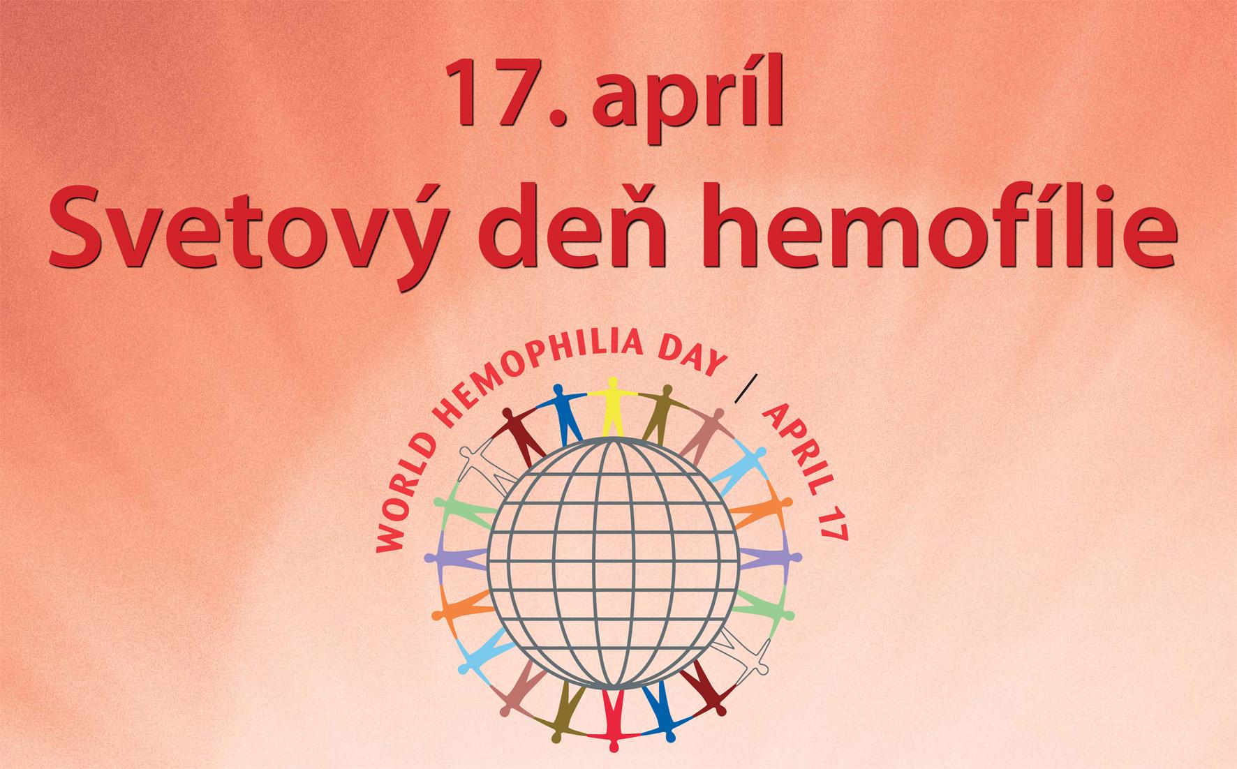 """17. apríl – Svetový deň hemofílie """"Rozsvieťte červené svetlá"""""""