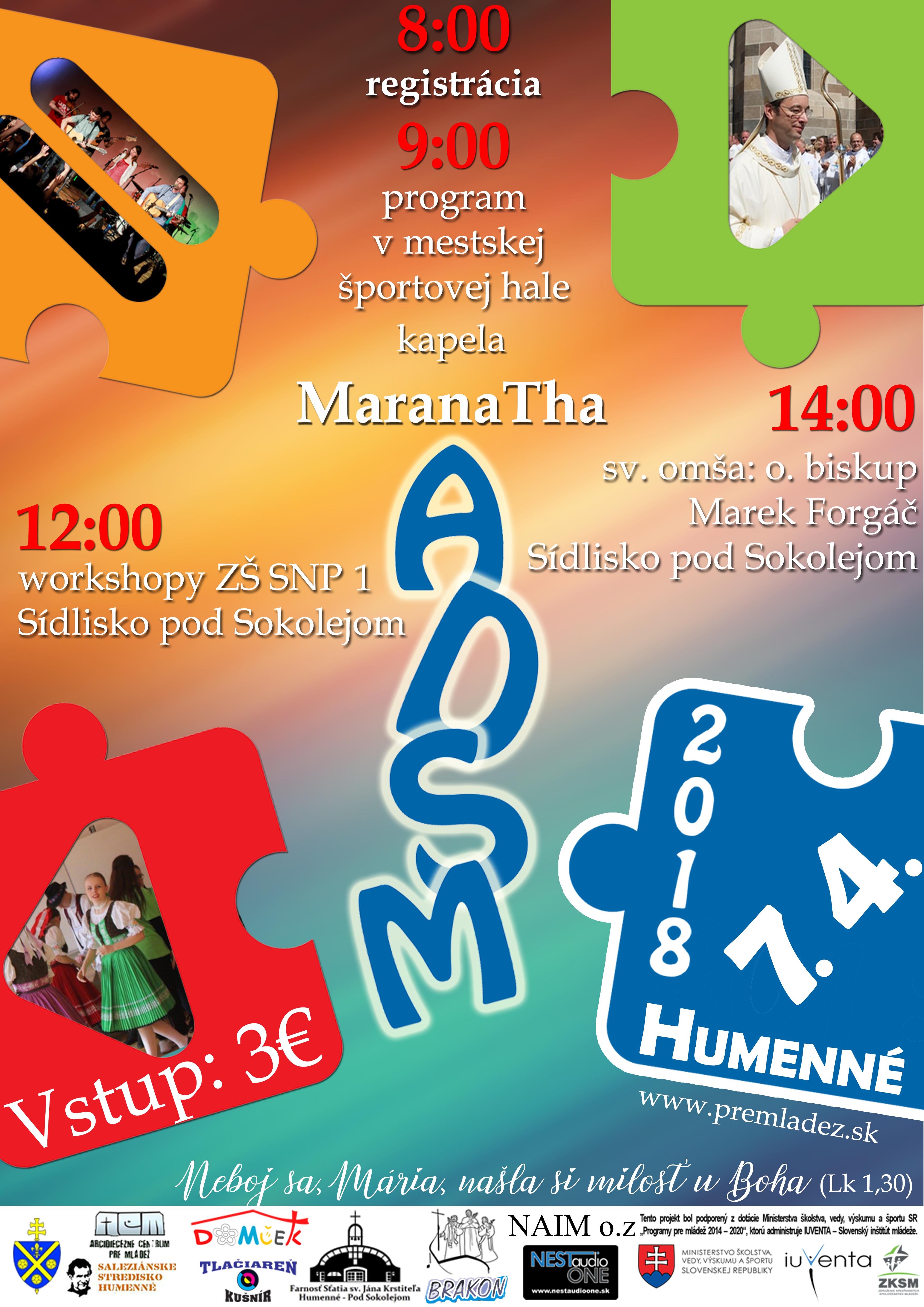 Arcidiecézne stretnutie mládeže už o týždeň - 7. apríla v Humennom